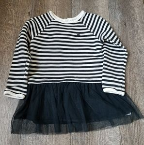 Carter's Black and White Stripe Tutu Sweater